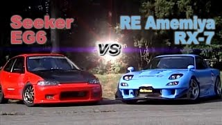 getlinkyoutube.com-[ENG CC] Seeker EG6 vs. RE Amemiya RX-7 Touge battle HV77