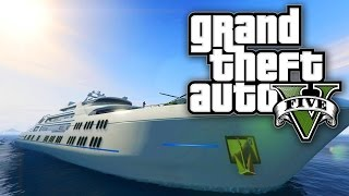 getlinkyoutube.com-GTA 5 Online - YACHT MONEY MISSION W/ VIP BOSS & BODYGUARDS DLC! (GTA V Online)