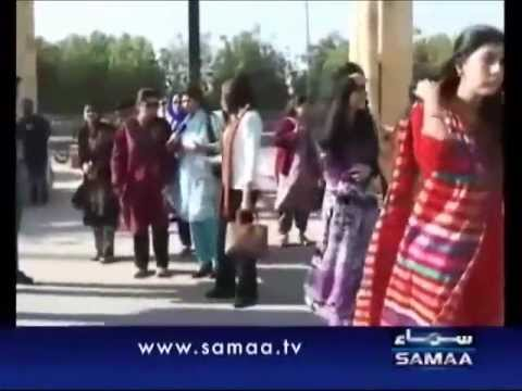 Karachi Maya Khan catching dating couples-Live on Samaa TV