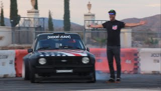 [HOONIGAN] Ryan Tuerck gets first go in Ken Block's Gymkhana Escort!