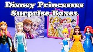 FROZEN Disney Frozen Elsa vs  Disney Princess Surprise Boxes Surprise Egg Video