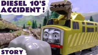 getlinkyoutube.com-Thomas & Friends Diesel 10 Crash Accident Play Doh Diggin Rigs Rescue Story Episode Thomas Train