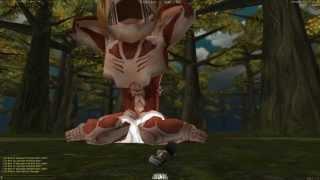 "getlinkyoutube.com-""Easy"" way to kill titan Annie solo in AoT tribute game"