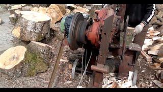 getlinkyoutube.com-Аппарат для колки дров (своими руками)