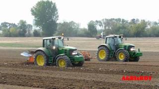 """getlinkyoutube.com-"""" New Holland""""  vs  """"John Deere""""  vs """"Valtra"""" , tractor  field exibition"""