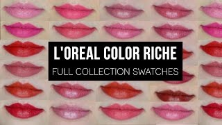 L'Oréal Color Riche | Full Collection Swatches!