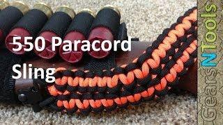 getlinkyoutube.com-Paracord 550 sling for shotgun / Rifle DIY Instruction
