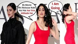 Jhanvi Kapoor IGNORES Ananya Pandey In Public   Watch Video