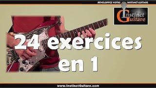 24 Exercices Techniques En 1 à La Guitare