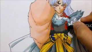 getlinkyoutube.com-COMO DIBUJAR A SESSHOMARU (Inuyasha). How to draw Sesshomaru from Inuyasha