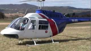 getlinkyoutube.com-Bell 206 start up and take off Jindabyne, Snowy Mountains, Australia