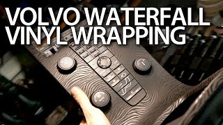 getlinkyoutube.com-How to vinyl wrap waterfall console in Volvo V50, S40, C30, C70 (optical tuning modification)