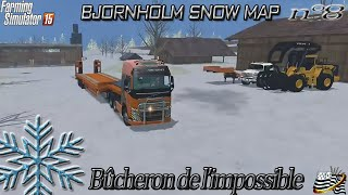 getlinkyoutube.com-Farming simulator 15 - Bûcheron de l'impossible - EP8 - MAP NEIGE