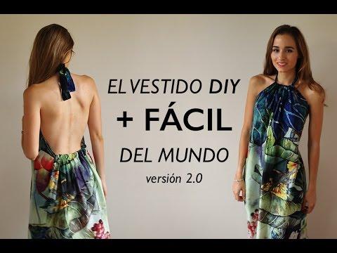 DIY   El vestido mas fácil del mundo 2.0 (listo en 1/2 hora)