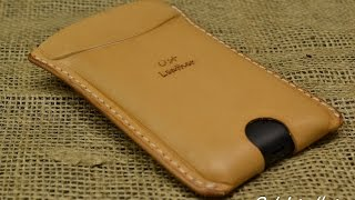 getlinkyoutube.com-how to make a simple leather case for mobile phone
