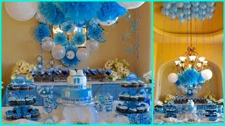 getlinkyoutube.com-BABY SHOWER IDEAS  FOR BOY BLUE THEME