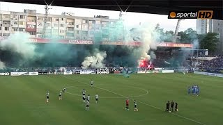 Pyro on Bulgarian Cup Final between Levski - Cherno More 30.05.2015