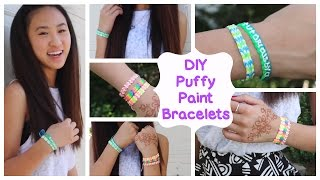 getlinkyoutube.com-DIY Puffy Paint Bracelets | How To // Tutorial