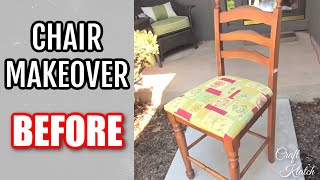 getlinkyoutube.com-DIY Garbage to Gorgeous Episode 2   Chair Makeover Recycling Furniture