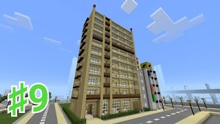 getlinkyoutube.com-【マイクラ】PEで目指すは大都市!♯9マンション
