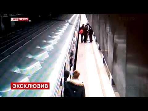 Драка в московском метро.