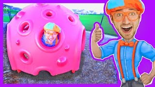 getlinkyoutube.com-Educational Videos for Preschoolers with Blippi | Outdoor Park