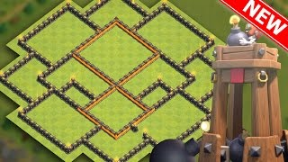 "getlinkyoutube.com-Clash Of Clans | BEST TH9 HYBRID BASE ""NEW UPDATE"" w/BOMB TOWER! 