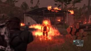 getlinkyoutube.com-MGSV Man on Fire Boss Fight (Water Pistol Only)