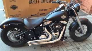 getlinkyoutube.com-Harley-Davidson Softail Slim '13 Bassani exhaust