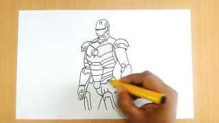 getlinkyoutube.com-How to Draw Iron Man