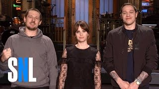 SNL Host Felicity Jones Grants Sturgill Simpson & Pete Davidson's Wish