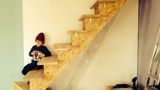 getlinkyoutube.com-Building Stairs Part 2 (HJRR) NEW OLD HOUSE series