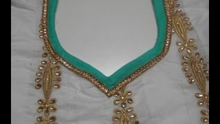 getlinkyoutube.com-Designer Neckline with Border made easy (DIY) - 2