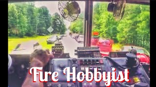 getlinkyoutube.com-Working Structure Fire Response in Morrisville DHFD Engine 1