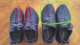 getlinkyoutube.com-Real vs Fake Yeezy Boost 350 Pirate Black (Tips on how to distinguish them)