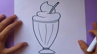 Como dibujar un batido paso a paso | How to draw a smoothie