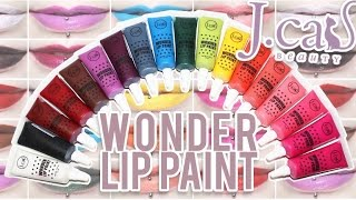 getlinkyoutube.com-Review & Swatches: J.CAT BEAUTY Wonder Lip Paints | 18 Shades!