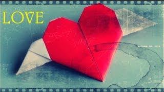 getlinkyoutube.com-Corazón con alas de papel - Papiroflexia