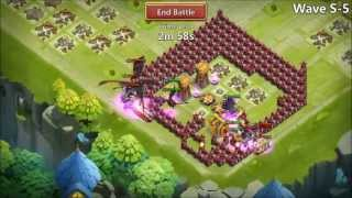 getlinkyoutube.com-Castle Clash Beating HBM S With NO Magic Towers New Base First TRY