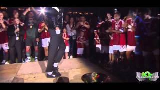 getlinkyoutube.com-Kevin Prince Boateng Moonwalk Dance Michael Jackson Tribute | AC MILAN | (Full Video) HD.