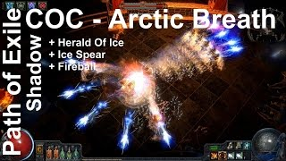 getlinkyoutube.com-Path of Exile - COC Shadow Herald Of Ice + Arctic Breath + Fireball + Ice Spear