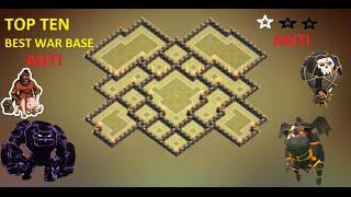 getlinkyoutube.com-Clash of Clans - Town Hall 9 (Th9) War Base + Defense Replay Anti Gowipe Anti 2 Star