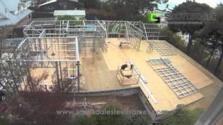 getlinkyoutube.com-Light Gauge Steel Frame House Erection