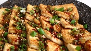 Cooking Korean food: 2 tofu sidedishes