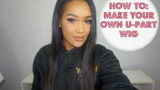 getlinkyoutube.com-How to: Make a U-Part Wig (Hair Glue Method) - EASY