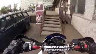 getlinkyoutube.com-Small ride on my Yamaha XT660X, Moscow