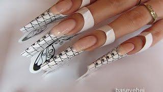 getlinkyoutube.com-Semilac Hard Milk - przedłużanie paznokci, Rapidoart oraz Syrenka - Basevehei