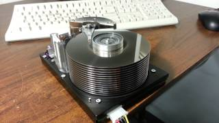 getlinkyoutube.com-Scary spin up of ancient 23GB Hard Drive - Sounds like a jet engine taking off