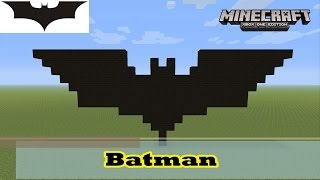 getlinkyoutube.com-Minecraft: Pixel Art Tutorial and Showcase: Simple Batman Symbol (Logo from The Dark Knight Rises)