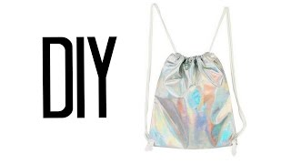 DIY Drawstring Backpack   Make Thrift Buy #22